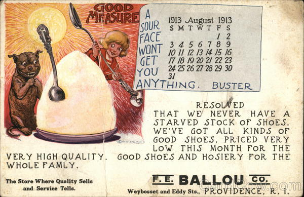 F.E. Ballou Co., Buster Brown Shoes Providence Rhode Island