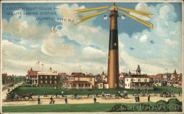 Absecom Light House and US Life Saving Station - Atlantic City NJ New Jersey
