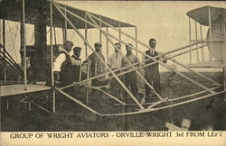 Group of Wright Aviators - Orville Wright 3rd from left