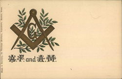 Embossed Freemasons - A.F. and A.M.