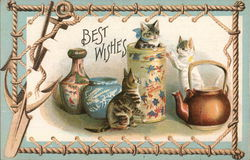 Best Wishes - Cats in Teapots