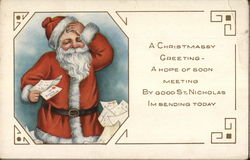 A Christmassy Greeting - Santa with letters
