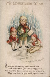 My Christmas Wish - children in the snow