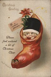 Christmas Greeting for a certain person - elf in a sock