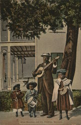 Blind Musician and His Children - Bermuda