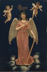 Hope - cherubs flying around a warrior angel