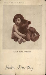 Child Holding a Large Teddy Bear