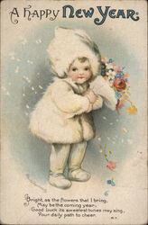 A Happy New Year- child with flowers