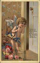 Cupid Leaning, Listening with Hand Next to Ear