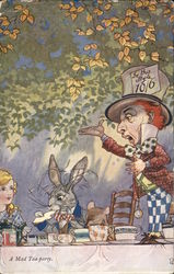 A mad tea party - Alice in Wonderland print with the Mad Hatter and White Rabbit