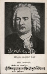Johann Sebastian Bach Violing Concerto No 2 portrait and music March 21, 1685- July 28, 1750
