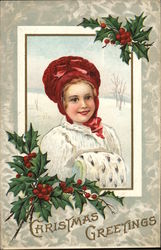 A Christmas Greeting - Girl with hat