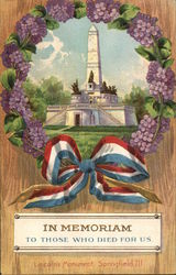 Lincoln's Monument, Springfield IL surrounded by grapes - In Memoriam to those who died for us