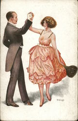 gentleman and lady dancing
