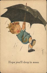 Hope you'll drop in soon - Boy Haning from Umbrella