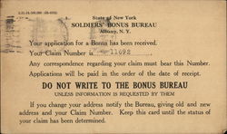 Text Only: State of New York Soldiers' Bonus Bureau, Albany, N.Y.