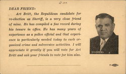 Art Britt, Republican Candidate for Re-election as Sheriff