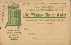 1900 Whirlpool Electric Washer