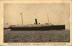 "Ocean S.S. Co. of Savannah - ""Savannah Line"" - S. S. City of Savannah"