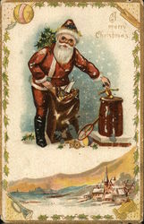 Santa With Sack of Toys