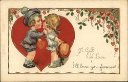 A Gift of Love - I'll love you forever - kissing children