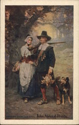 Pilgrims hunting turkey