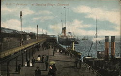 "S. S. ""Jeutonic"" At landing stage, Liverpool"