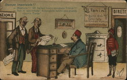 Two Men Before Turkish Bureaucrat's Desk