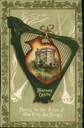 Blarney Castle - framed by Irish Harp
