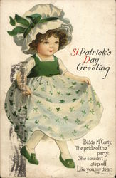 St. Patrick's Day Greeting - Irish girl dancing