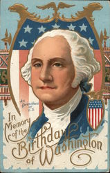 In Memory of the birthday of Washington - portrait of Washington