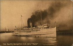 Large Ship in the Water With Two Smokestacks