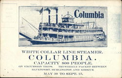 White Collar Line Steamer Columbia