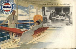 "On board S.S. ""Mongolia""Cleaning Tea - Pacific Mail Steamship Co."