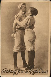 Baseball Player and Girl