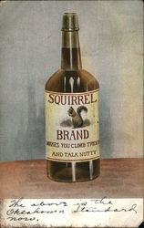 Squirrel Brand - Makes you climb trees and talk nutty - liquor bottle