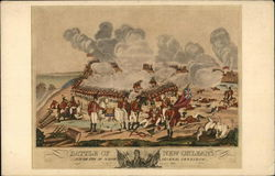 Battle of New Orleans- armies battling amid smoke
