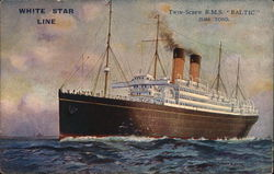 "White Star Line Twin Screw RMS ""Baltic"" 23,884 Tons"