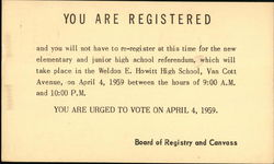 You Are Registered
