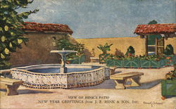 View of Hink's Patio - New Year Greetings from J. F Hink & Son, Inc