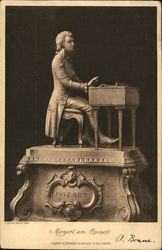 Mozart Sculpture Seated at Piano