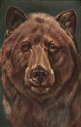 Painting of a grizzly bear