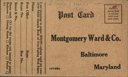 Montgomery-Ward Co. - Wallpaper Sample Book