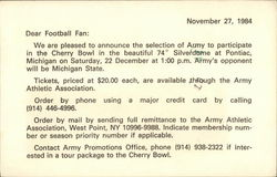 Army Football - Cherry Bowl