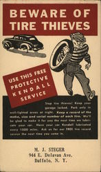 Kendall - Beware of Tire Thieves Postcard