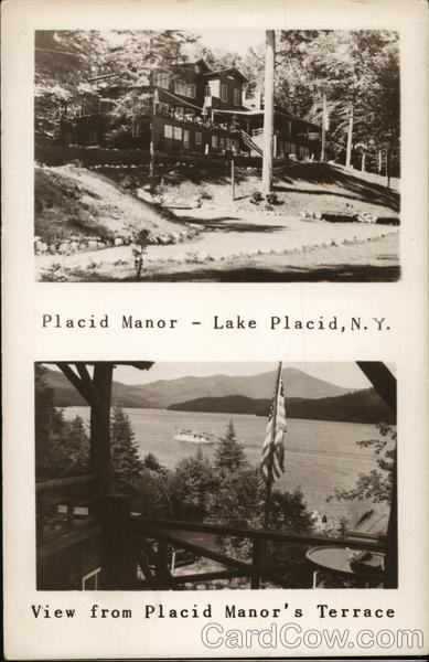 Placid Manor - Lake Placid, NY - View from Placid Manor's Terrace New York