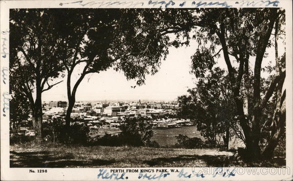 View of Perth from King's Park, W.A. Australia