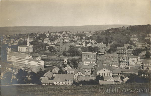 Aerial View of City - Probably New Hampshire or Maine