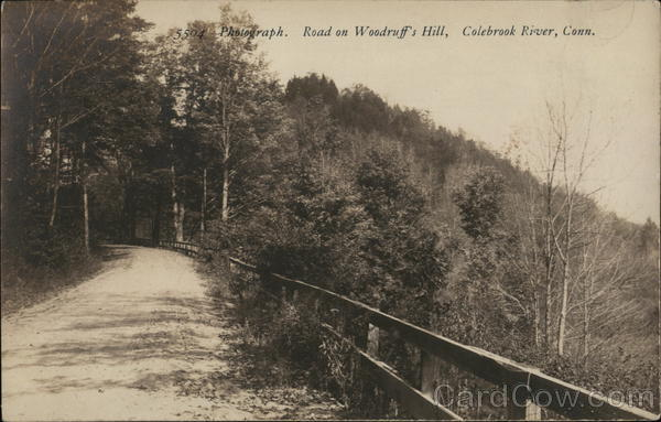 Road on Woodruff's HIll, Colebrook River, Conn. Winsted Connecticut