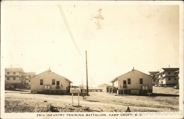 38th Infantry Training Battalion, Camp Croft. SC South Carolina